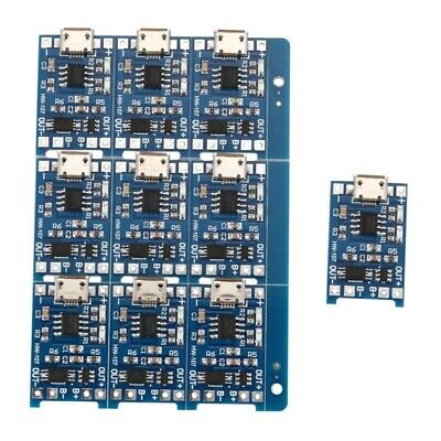 10Pcs 5V mini USB 1A 18650 TP4056 Lithium Battery Charging Board With Prote H6Q2