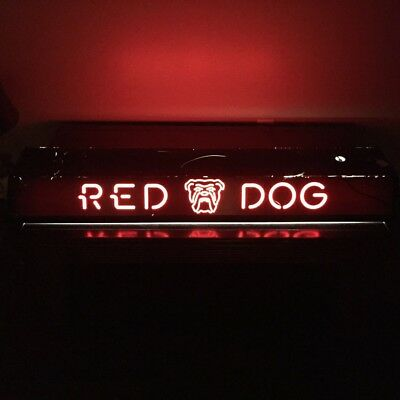 "*RARE* Vintage Red Dog Beer Pool Table Light - 48.5"" L X 12"" W"