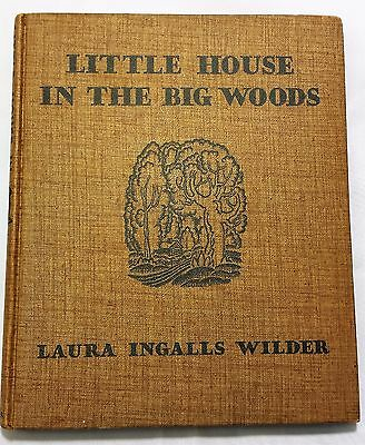 Laura Ingalls Wilder Vintage Little House in the Big Woods Antique1935 Rare Book