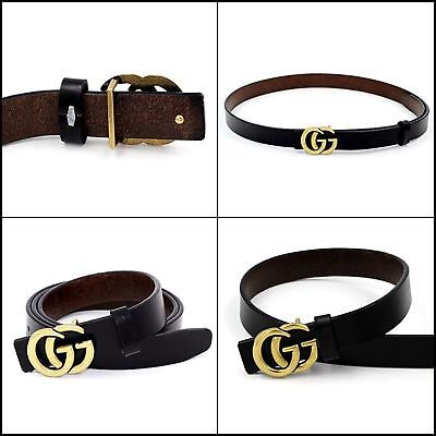 New Top Genuine Leather Thin Belt Fashion Women Gucci Logo Pattern For Jeans 0.9