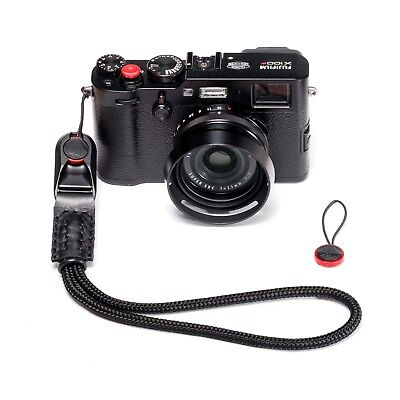 Peak Design AL3 Cuff Style Black Braided Cord Rope and Leather Hand Camera Strap