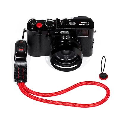 Peak Design AL3 Cuff Style Red Braided Cord Rope and Leather Hand Camera Strap