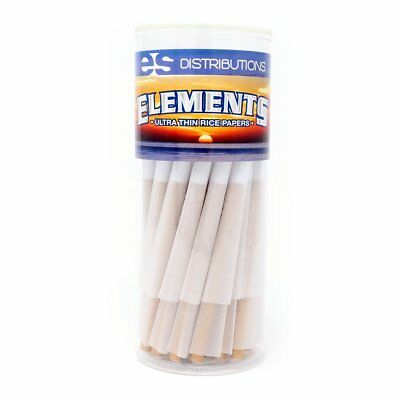 50 Pack Elements Classic Rice Paper King Size Pre-Rolled Cones for joints weed..