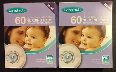 120 x Lansinoh Ultra Thin Disposable Nursing Breast Pads (2x boxes of 60)