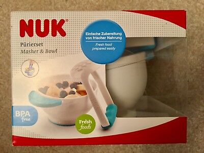 Annabel Karmel by NUK Food Masher and Bowl  **FREE DELIVERY**