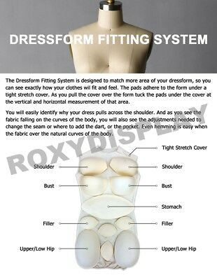 Dress Form Fitting System One Size for All Dress Forms #ST-PAD
