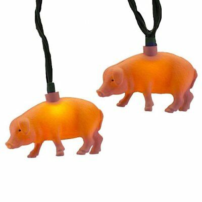 Kurt Adler UL 10-Light Pink Pig Light Set