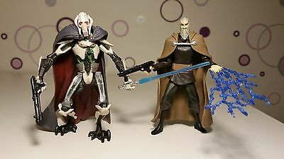 Star Wars Figur General Grievous & Count Dooku Sith Hasbro Kenner Legacy RAR