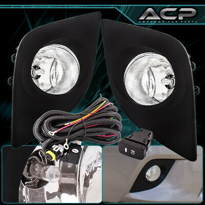 Clear Lens Chrome Housing Fog Lights For 14 15 16 Toyota Corolla Bumper Lamps