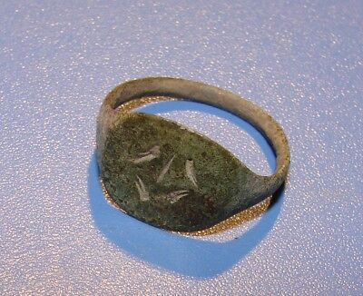 ANCIENT RING 17 - 18 century. SLAVS. BRONZE. ORIGINAL