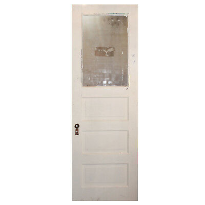 "Salvaged 28"" Door with Privacy Glass, Early 1900s, NED776"