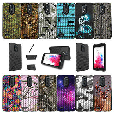 For LG Aristo 2 | Fortune 2 | Tribute Dynasty (2018) Dual Bumper Case - Camos