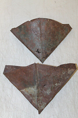 LOT OF 2 EARLY VINTAGE GALVANIZED BIRDS EYE TURPENTINE TAR CUP Tool