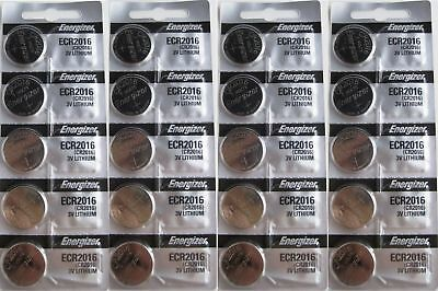Lot of 20 PC ENERGIZER CR2016 WATCH BATTERIES 3V LITHIUM CR 2016 Coin ECR2016