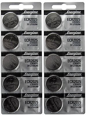10 x FRESH Genuine Energizer CR2025 ECR2025 3V Coin Button Battery Fast Shipping