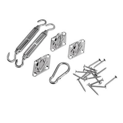 Triangle Shade Sail Canopy Stainless Steel Fixing Hardware Kit Accessories