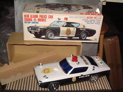 """Alps Large Battery Operated """"new Alarm Police Car"""", Fully Working W/box! Sweet*"""