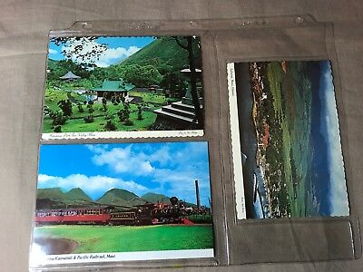 3 Maui, Hawaii Postcards, uncirculated, 1967, 1971 and later