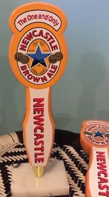 """NEVER USED 11 1//2/"""" Newcastle Brown Ale Beer Wooden Tap Handle"""