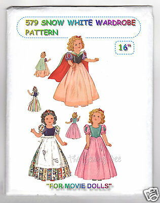 """515 antique Doll Dress Pattern Fits Shirley Temple Dolls 16/"""" vintage"""