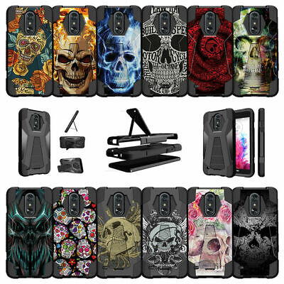 For LG Aristo 2 | Fortune 2 | Tribute Dynasty (2018) Dual Layer Case - Skull