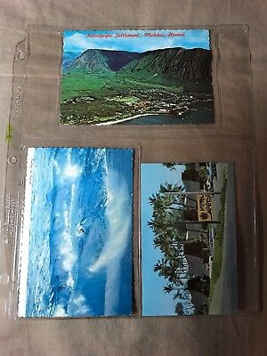 7 Postcards of Hawaii, 6 unposted, 1 posted, minimal storage wear, see pictures
