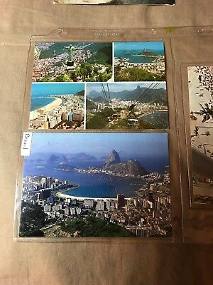 4 Postcards of Brazil all posted, some postage and storage wear, see pictures