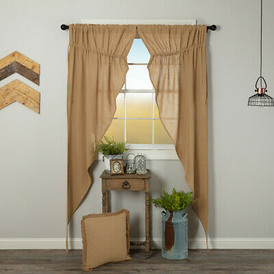 Burlap Natural 84 Panel Set CURTAINS Country Primitive Rustic