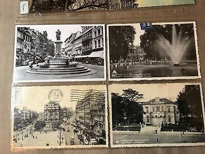 9 Vintage Postcards of Belgium, 6 posted-1903, 3 unposted, Some storage wear