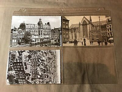 3 Vintage Postcards of Amsterdam... unposted, Some storage wear, see pictures
