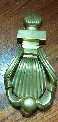 Vintage Brass Shell Shaped Door Knocker Architectural  Old Striker