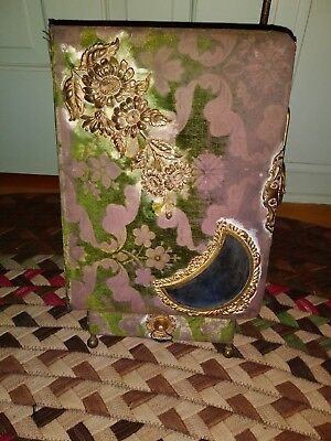 Beautiful Antique Victorian 1800s Photo Album with Stand and Drawer