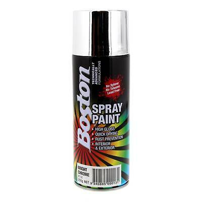 Bright Chrome Spray Paint Can 250g Boston Quick Drying Rust Prevention