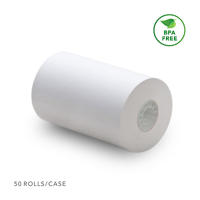 Thermal POS Receipt Paper Roll (50 Rolls) First Data FD100 FD200 FD200ti FD300