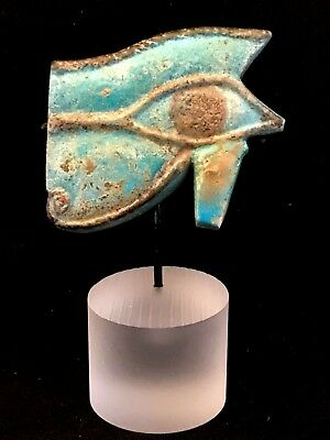 Ancient Egyptian Huge Wedjat - Eye Of Horus Amulet; Rare To Find This Size!