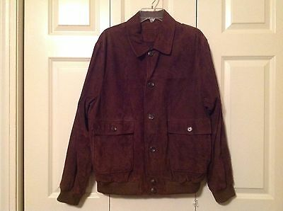 Brooks Brothers Jacket Brown Suede Size L