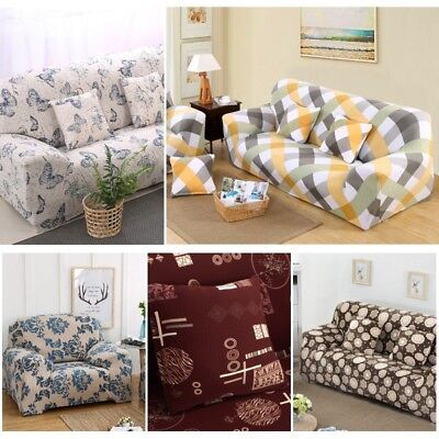 EASY FIT Stretch Couch Sofa Lounge Covers 1 2 3 Seater Dining Chair Pillowcase