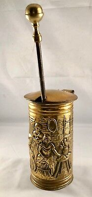 Antique tall Solid Brass Vintage Mortar & Pestle Heirloom english stone pestle
