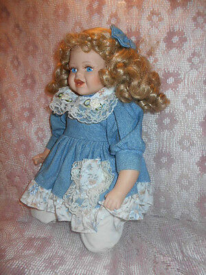 Georgetown Collection  13 In Porcelain Doll Blonde Blue Eyes  High Quality Doll