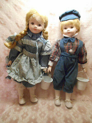 GEORGETOWN COLLECTION  16 IN PORCELAIN DOLLS  HIGH QUALITY DOLLS BOY and GIRL