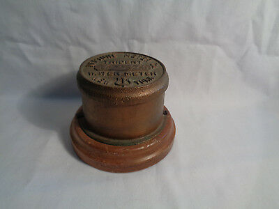 Vintage Neptune Water Co. Trident Water Meter Cap New York Trinket Box 16336260