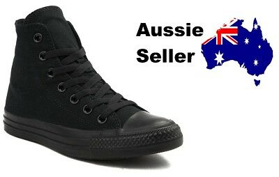 NEW Converse Adult Mens Womens Unisex Chuck Taylor Hi All Star Black Mono M3310C
