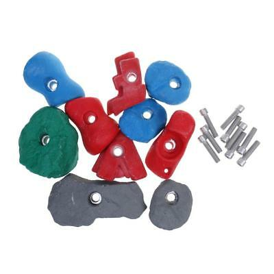 10x Textured Climbing Rock Wall Stones Holds Hand Feet Assorted Kit Bolt On