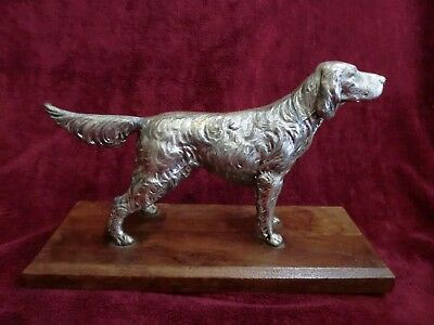 Antique SETTER Rare Hunting Dog Metallic WEIDLICH BROS  # 229 A. Flauder