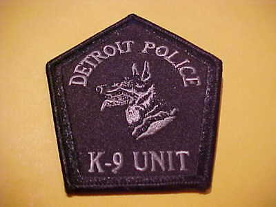 Detroit Michigan K-9 Police  Patch Shoulder Size New  3 1/2 X 3