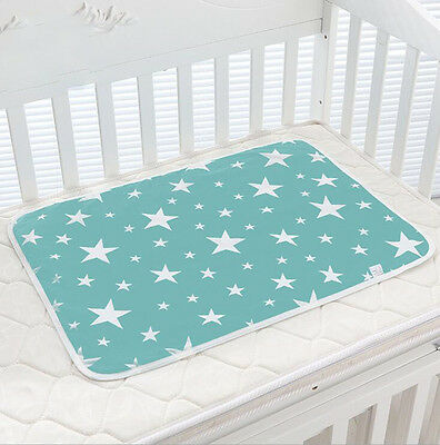 Soft Waterproof Baby Changing Pad Infant Cotton Nappy Cover Toddler Urine Mat