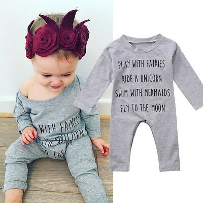 0-2T Newborn Infant Baby Boy Girl Cotton Romper Jumpsuit Bodysuit Clothes Outfit