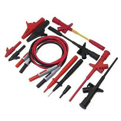 12 in 1 Electronic Universal Multimeter Test Lead Banana Plug Probe Cable Kit