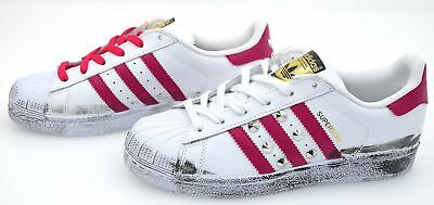sports shoes 92c83 60ad6 Adidas Donna Scarpa Sneaker Casual Tempo Libero Pelle Art. B23644 Superstar