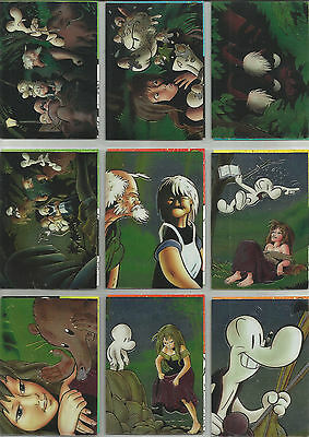 """""""bone Series 2"""" Complete 90 All Chromium Card Set Jeff Smith (Comic Images 1995)"""